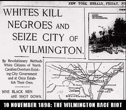 whites kill negroes in wilmington
