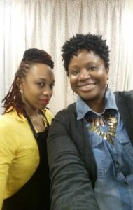 Toni the stylist and I.